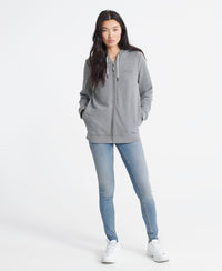 Orange Label Elite Zip Hoodie - Grey