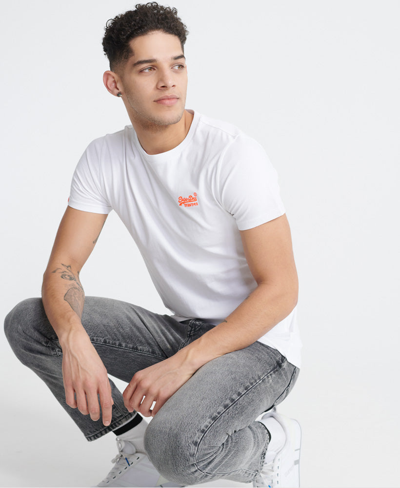 Orange Label Neon Lite T-Shirt - Cream - Superdry Malaysia