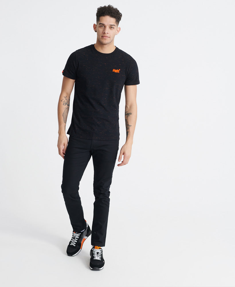 Orange Label Vintage Embroidered T-Shirt - Black