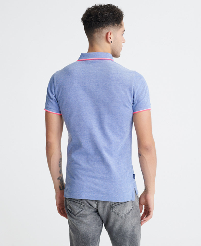 Poolside Pique Polo Shirt - Blue