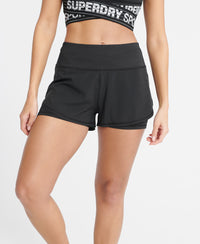 Training Lightweight Double Layer Shorts - Black