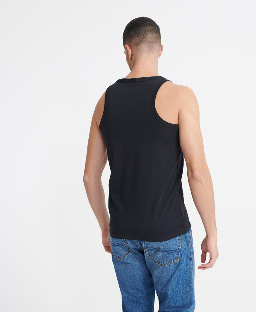 Neon Lite Vest Top - Black