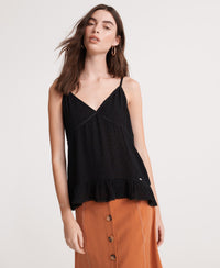 Summer Lace Cami Top - Black
