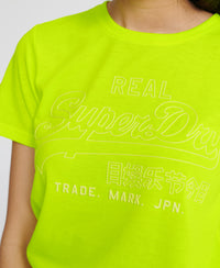 Vintage Logo Outline Pop T-Shirt - Yellow