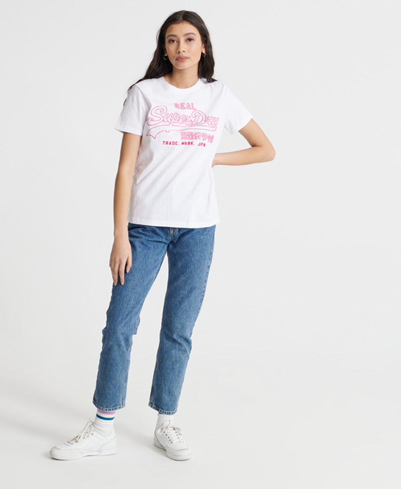 Vintage Logo Outline Pop T-Shirt - White