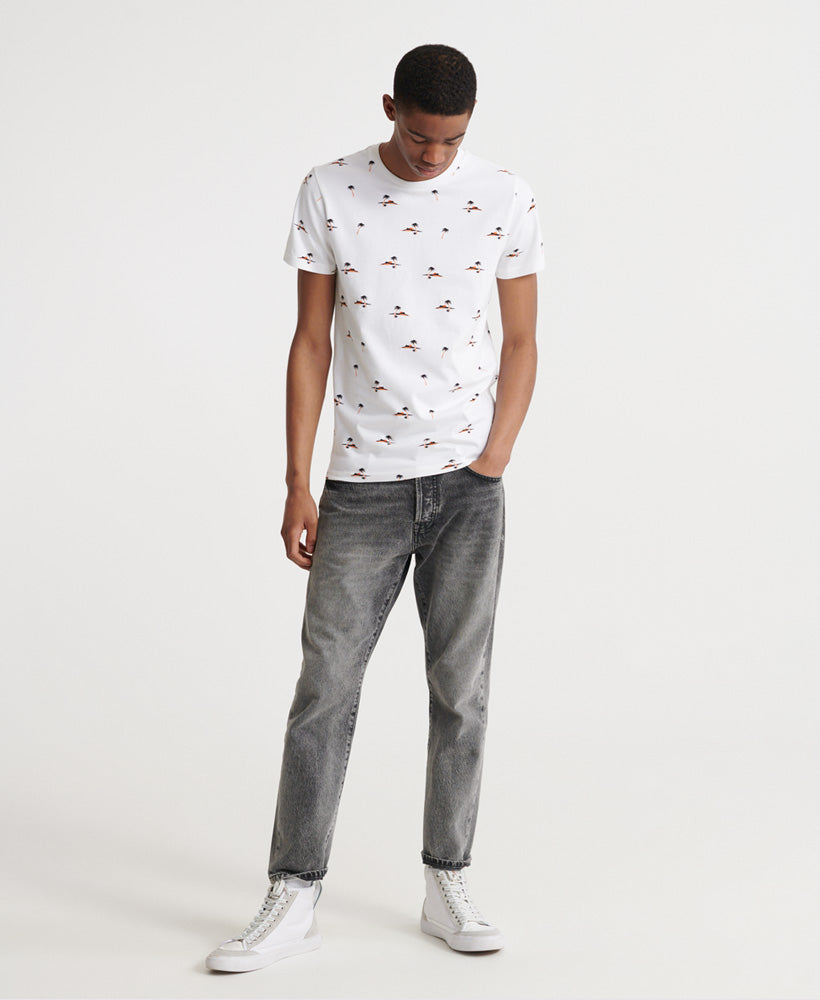 Organic Cotton All Over Print T-Shirt - White