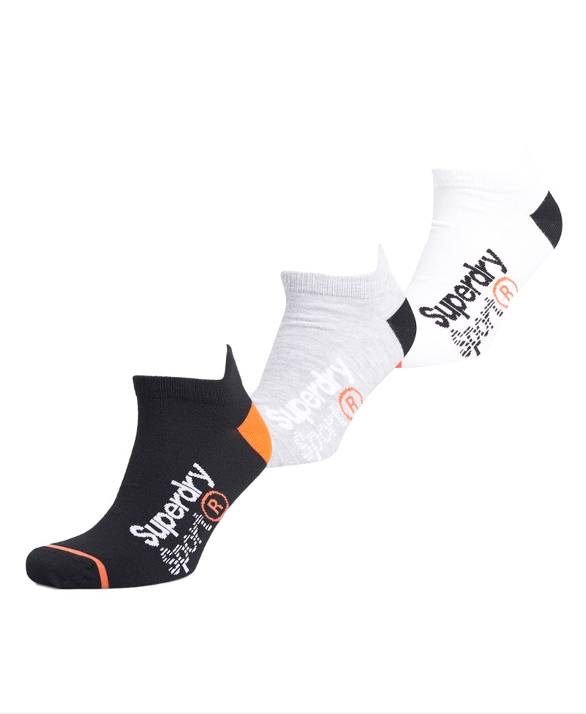 Cool Max Ankle Sock 3 Pack - Black