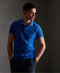 Organic Cotton Classic Poolside Pique Polo Shirt - Dark Blue