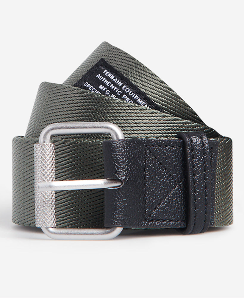 Canvas Tactical Belt - Green - Superdry Malaysia