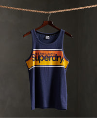 Core Logo Stripe Vest Top - Blue