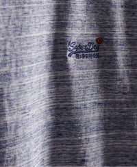 Organic Cotton Vintage Embroidery T-Shirt - Light Blue