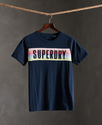 Rainbow Panel T-shirt - Navy