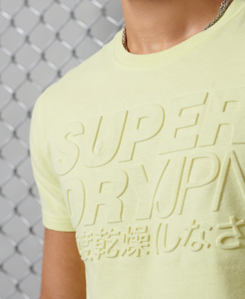 Embossed Pastel Line T-Shirt - Yellow
