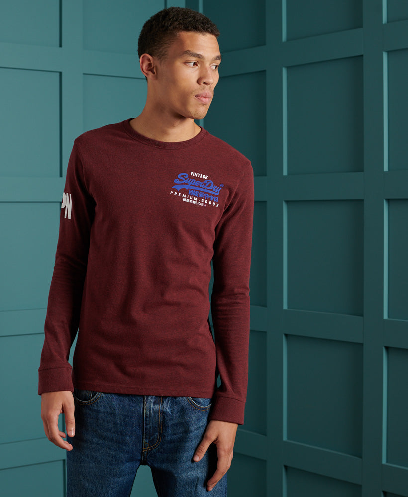 Vintage Logo Duo Long Sleeve Top - Superdry Malaysia