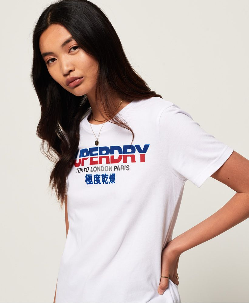 City Nights Splice Entry Tee - White