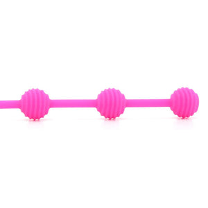 "Posh Silicone ""O"" Beads in Pink by CalExotics"