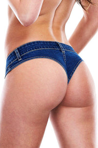 Got It? Flaunt It! Dark Wash Denim Thong by X-Gen
