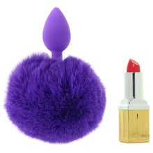 Load image into Gallery viewer, Bunny Tail Beginner Silicone Butt Plug in Purple by Pipedream