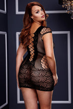 Load image into Gallery viewer, Corset Front Lace Mini Dress by Baci