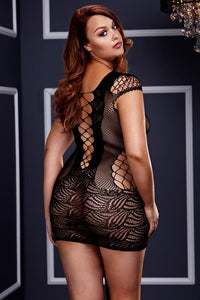 Corset Front Lace Mini Dress by Baci
