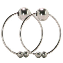Load image into Gallery viewer, Nipple Play Non-Piercing Nipple Rings in Silver by CalExotics