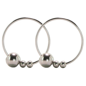 Nipple Play Non-Piercing Nipple Rings in Silver by CalExotics
