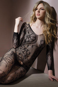 Gossip Swirl Bodystocking by Coquette