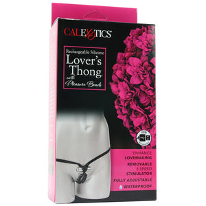 Lover's Cheeky Thong with Stroker Beads by CalExotics