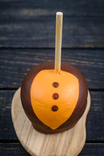 Load image into Gallery viewer, Orange & Black Tuxedo Taffy Apple
