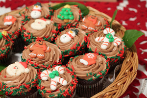 Holiday Decorated Mini Cupcakes