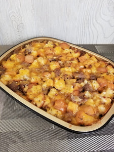 Sausage, Egg and Cheddar Cheese Strata