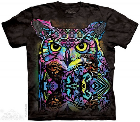 Russo Colourful Owl Mountain T-Shirt