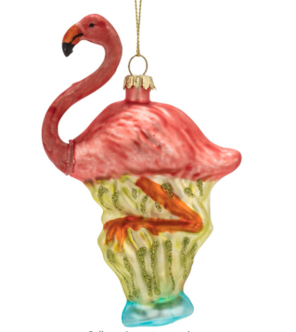 Pink Flamingo Ornament