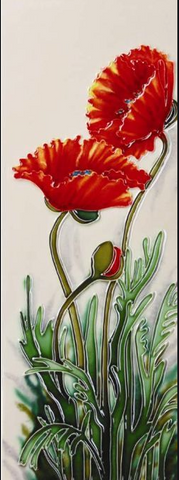 Growing Poppies Tile Art