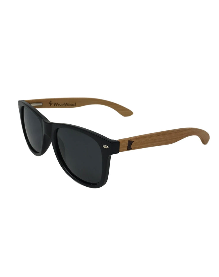 State of MN Classic Bamboo Sunglasses