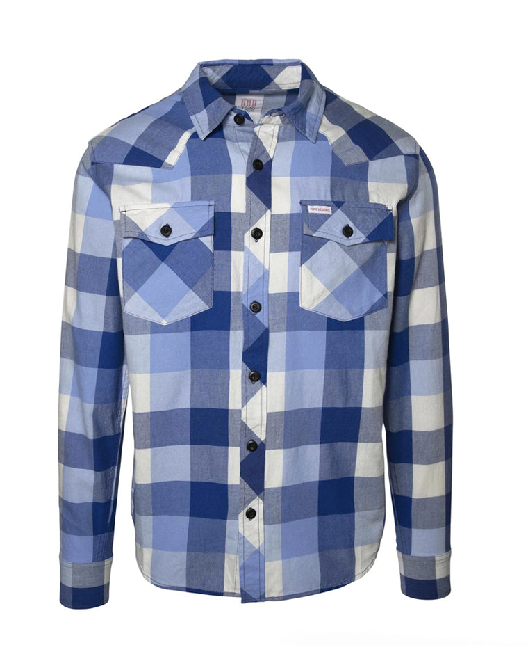 Mountain Shirt | Blue Plaid | TOPO Designs