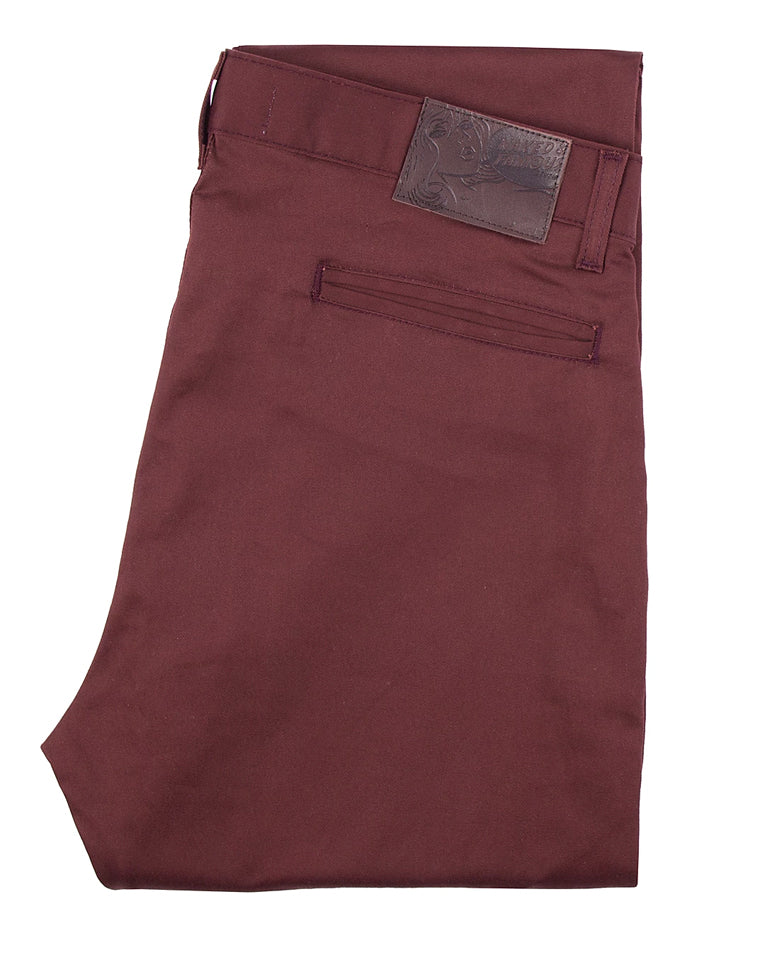 Stretch Twill Slim Chino / Naked & Famous / Burgandy