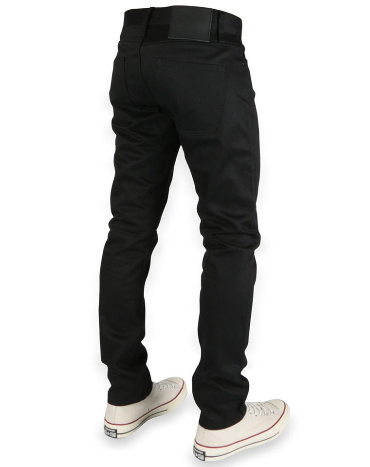 Tight Fit Black Chino Selvedge | Unbranded Brand