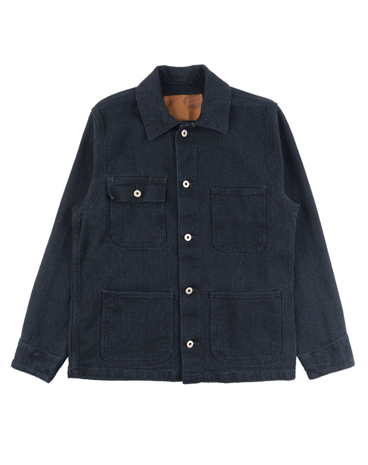 Chore Coat in Indigo Basketweave | Naked & Famous