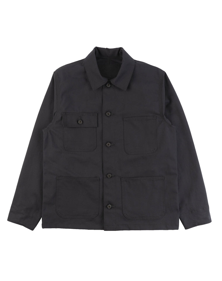 Chore Coat in Black Stretch Canvas| Naked & Famous