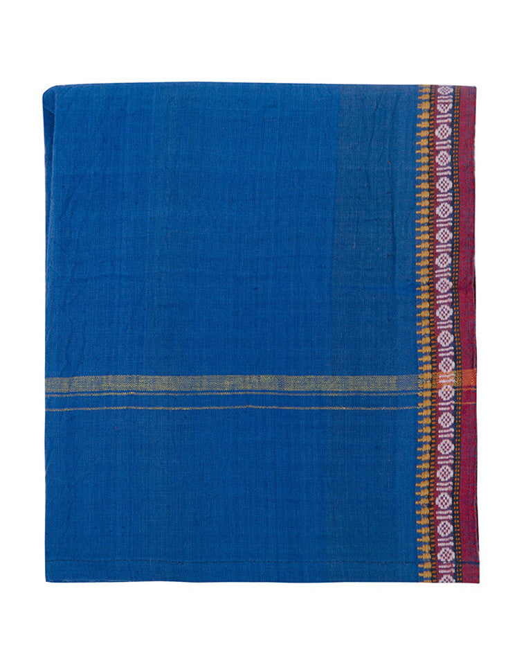 Found Cotton Cloths in Cobalt & Burgandy