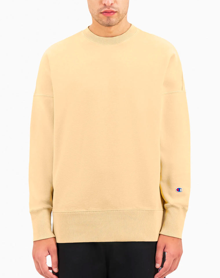 Drop Shoulder Reverse Weave Crew in Butter | Champion Europe
