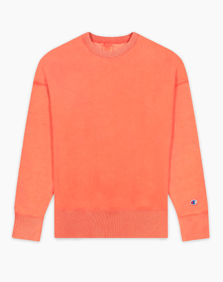 Drop Shoulder Reverse Weave Crew in Blood Orange | Champion Europe
