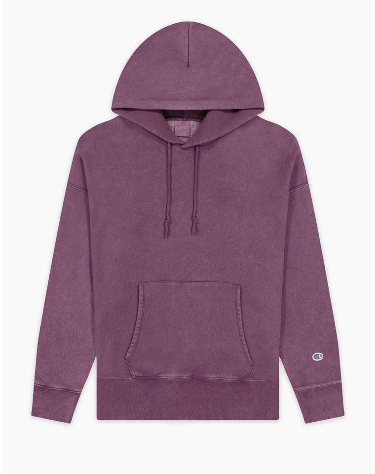 Drop Shoulder Reverse Weave Hoodie in Faded Plum | Champion Europe