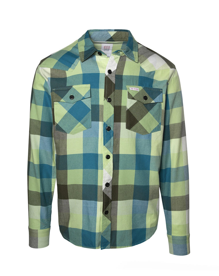 Mountain Shirt | Green Plaid | TOPO Designs
