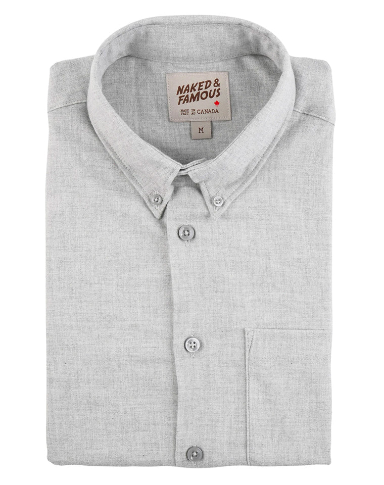 Soft Twill Oxford in Pale Grey | Naked & Famous