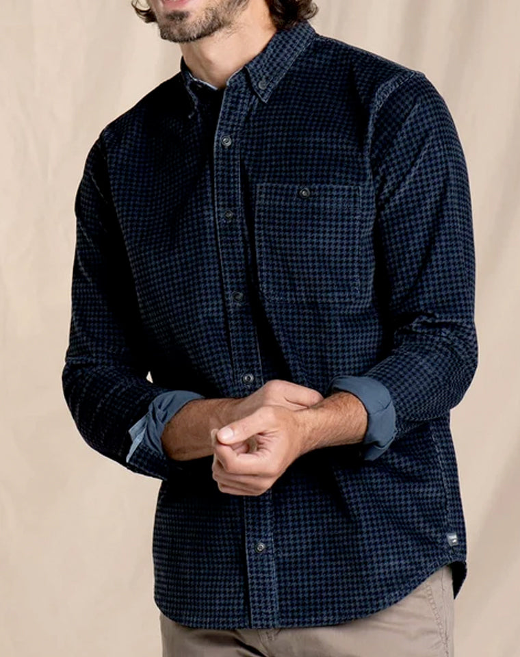 Slim Cord Shirt in Smokey Houndstooth | Toad & Co.