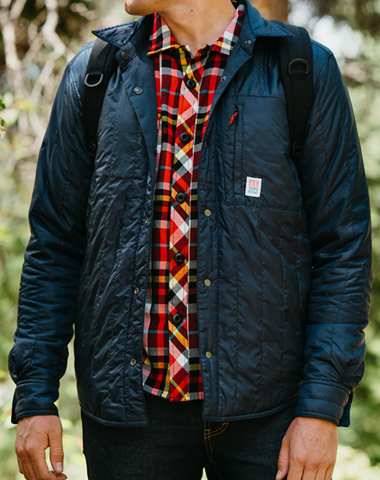 Insulated (reversible) Shirt Jacket in Black | Topo Designs