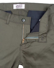 Stretch Twill Slim Chino / Naked & Famous / Khaki Green