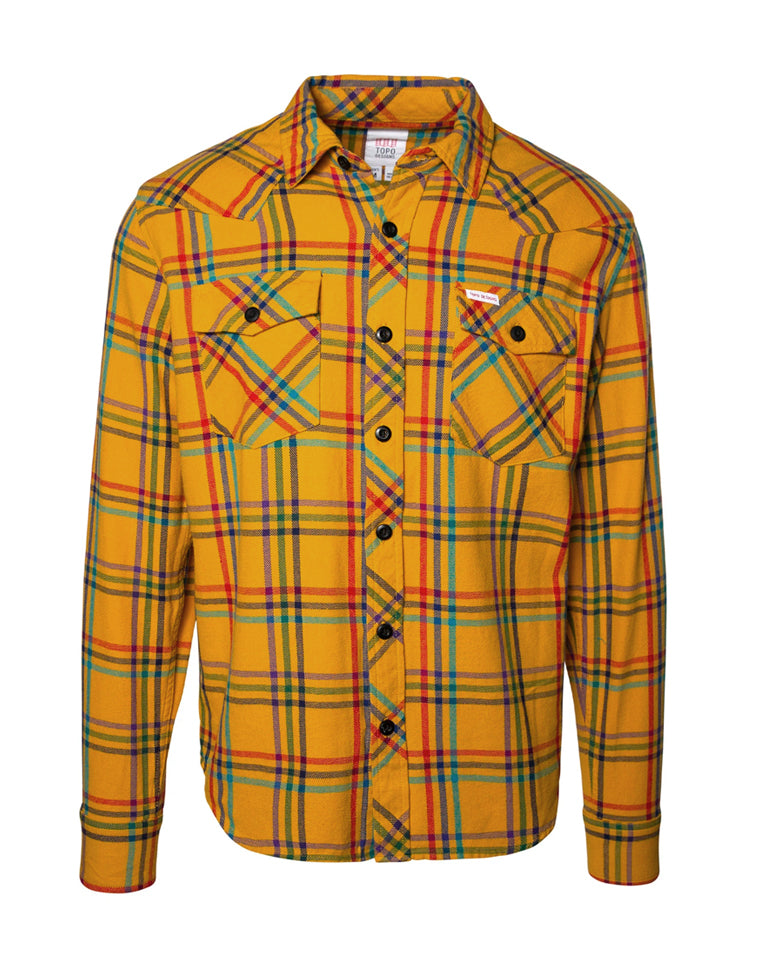 Mountain Shirt | Yellow Plaid | TOPO designs